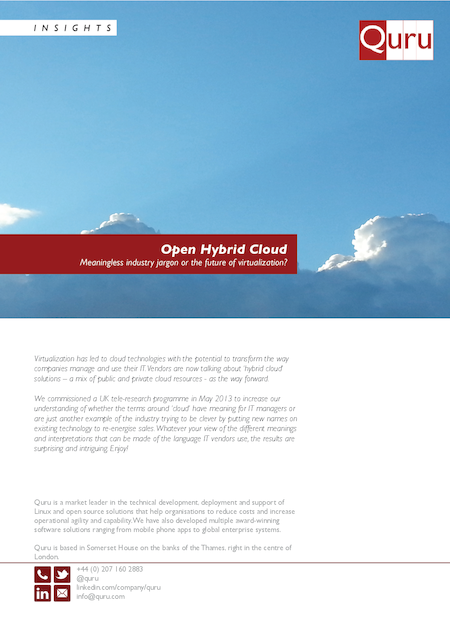 The journey from virtualization to the cloud