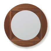 Geometric mirror range - Round with silver square