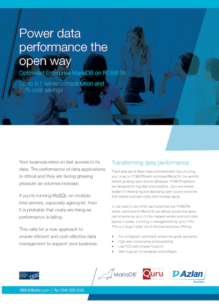 Power data performance the open way