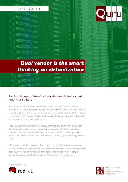 Dual vendor is the smart thinking on virtualization